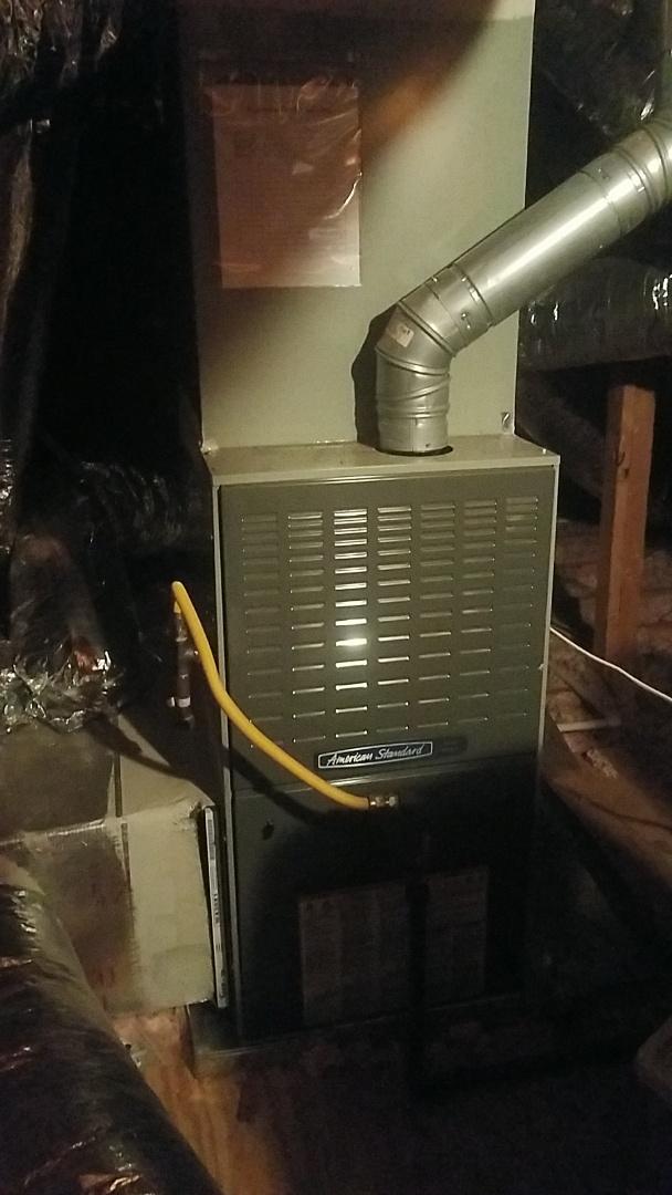 Newnan, GA - Working on a gas furnace