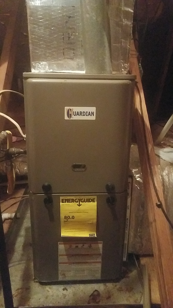 Peachtree City, GA - Working on a Guardian gas furnace
