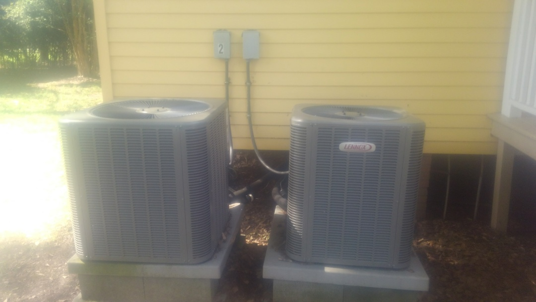 Ville Platte, LA - Did service call on Lennox system and replace contractor.