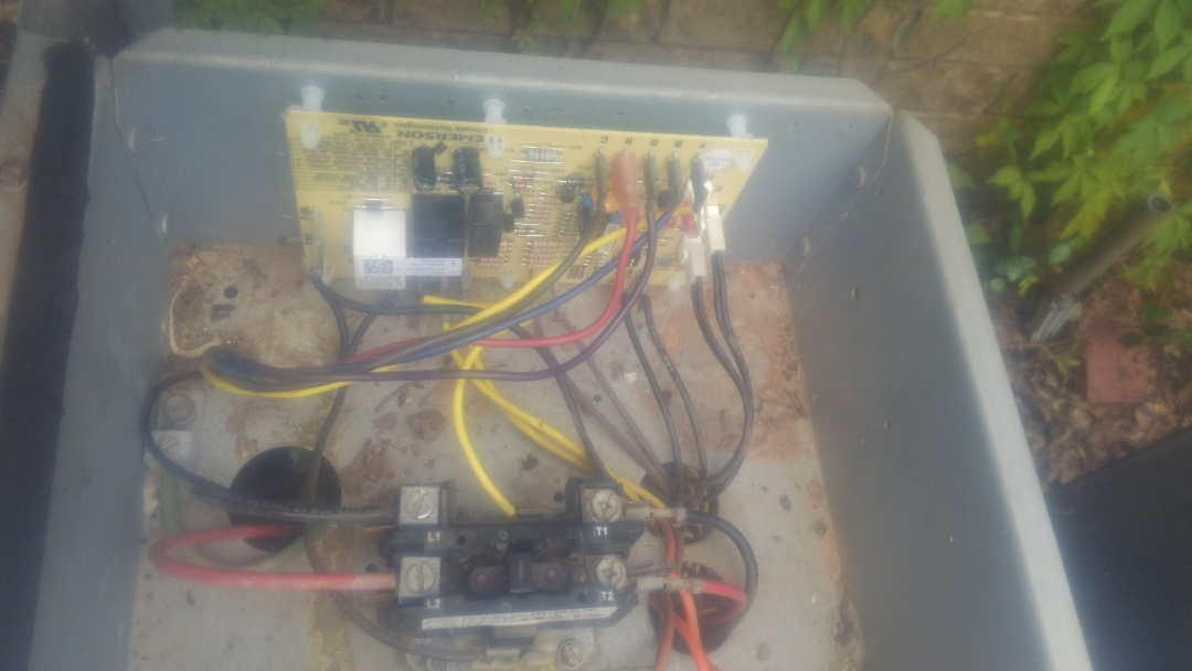 Did service call on ruud system and replace control board.