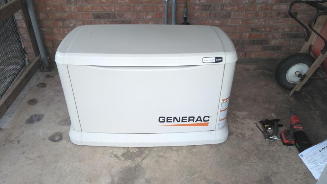 Did final start up on generac  generator.