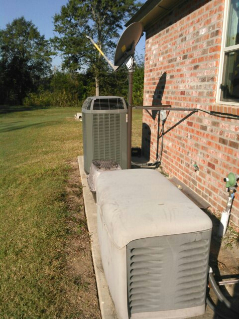 Arnaudville, LA - Did heating check on trane unit and generator.