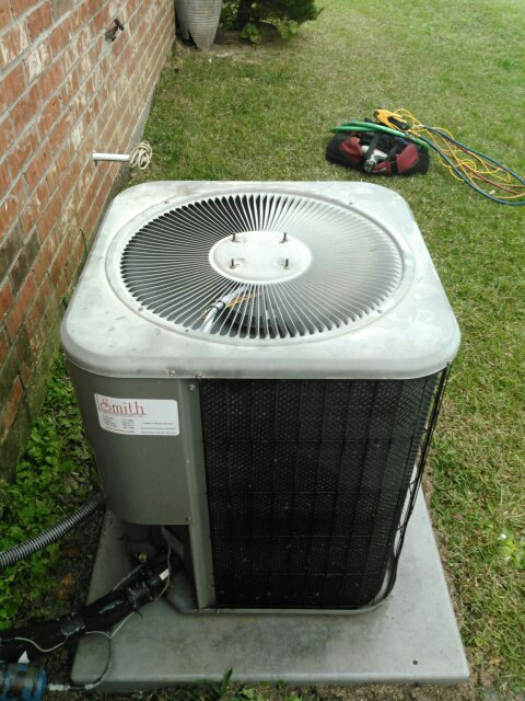 Did service call on Lennox unit and replace cond motor.