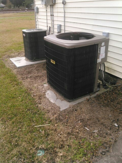 Basile, LA - Did heating tune up on Lennox and luxaire unit and replace filter;s.