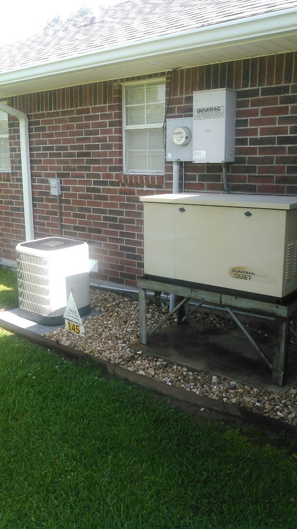 Eunice, LA - Did cooling tune up on Frigidaire unit and did yearly maintenance on generator.