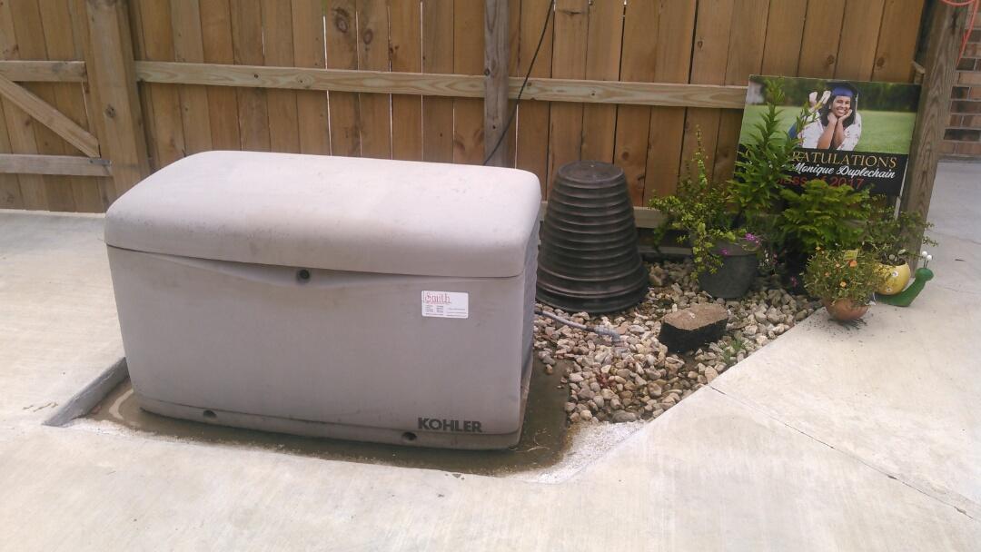 Opelousas, LA - Did yearly generator maintenance on kohler generator and replace battery.