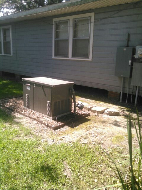 Did service call on Lennox generator and did yearly maintenance.