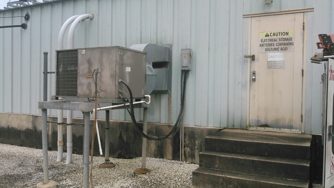 Port Barre, LA - Did service call on luxaire package unit and replace compressor and washed unit.