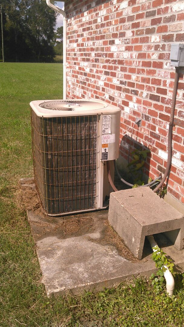 Did cooling tune up on Lennox unit and replace filter and capacitor and contactor.