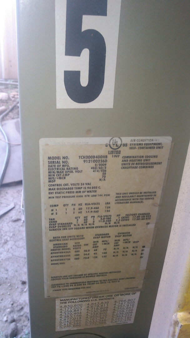 Ville Platte, LA - Did service call on trand package unit and replace thermostat in warranty.