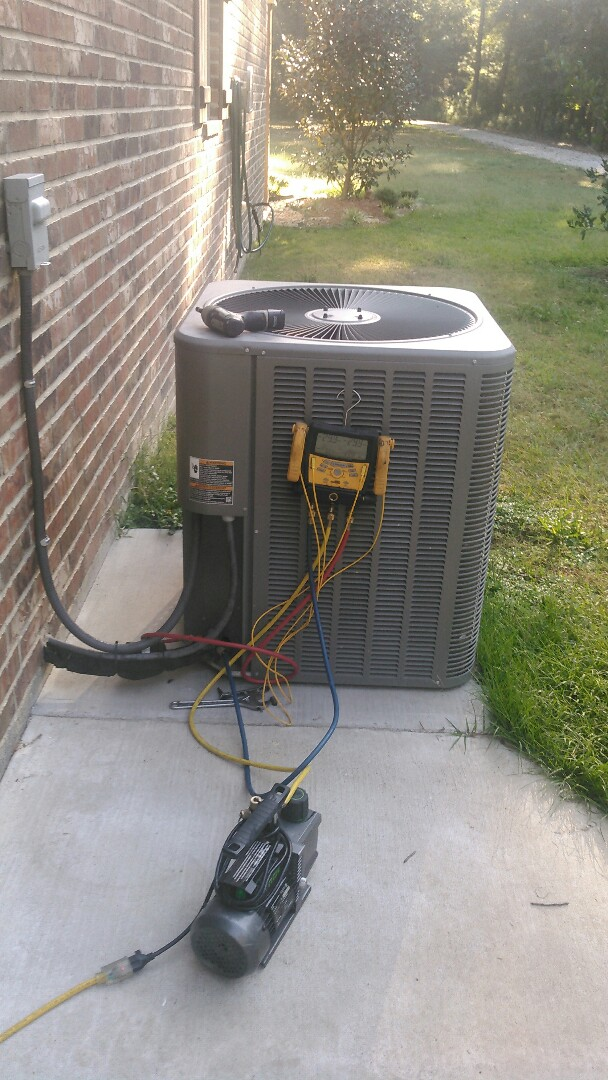 Ville Platte, LA - Did service call on Lennox unit and replace evap coil in warranty.