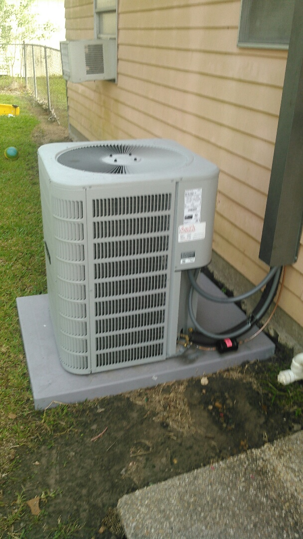 Crowley, LA - Did service call on aire_flo unit and replace roof jack and did finally check on heater.