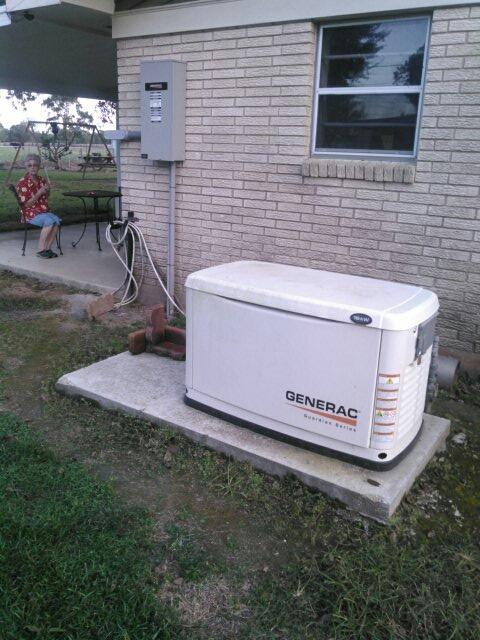 Ville Platte, LA - Did service call on generator replace filter.