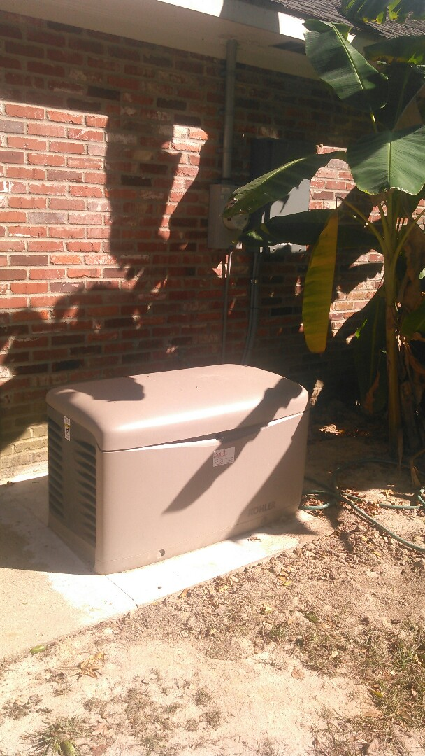 Ville Platte, LA - Did service call on kohler generator and check exercise time.