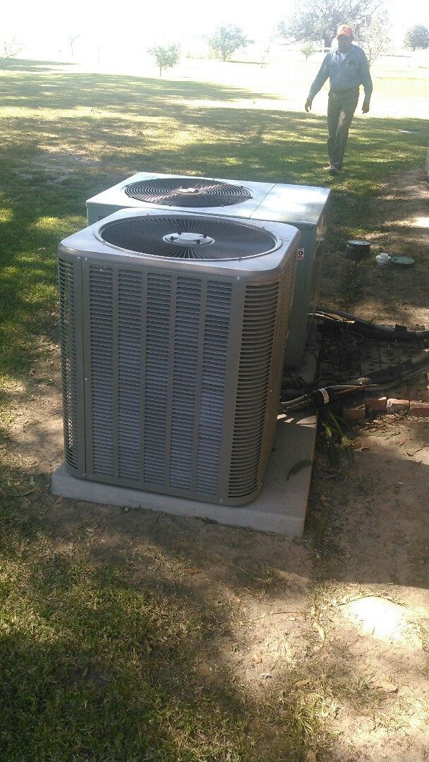 Mamou, LA - Did service call on Lennox unit and replace compressor in warranty.
