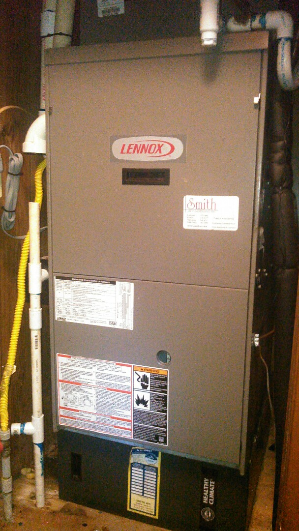 Mamou, LA - Did heating tune up on Lennox heater and turned gas value on