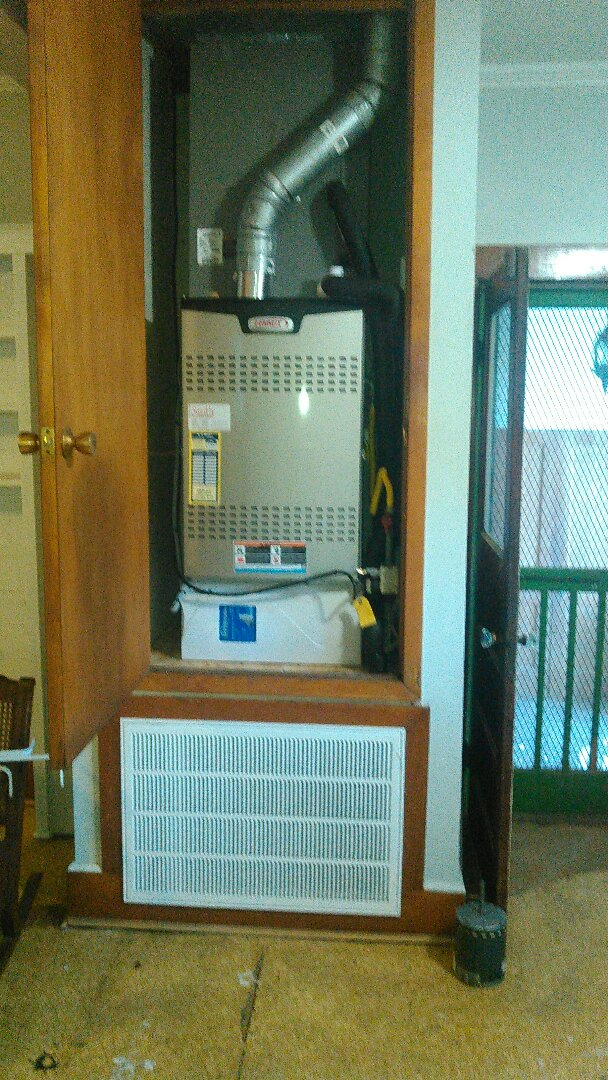 Opelousas, LA - Did service call on Lennox heater and replace blower motor and filter.