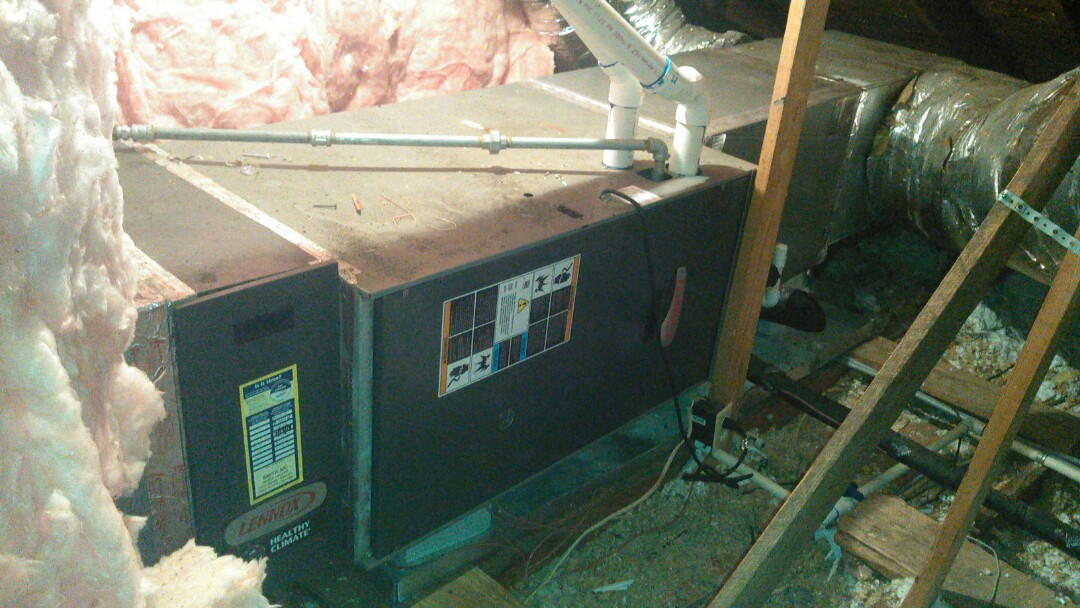 Eunice, LA - Did service call on Lennox heater and found vent pipe blocked.