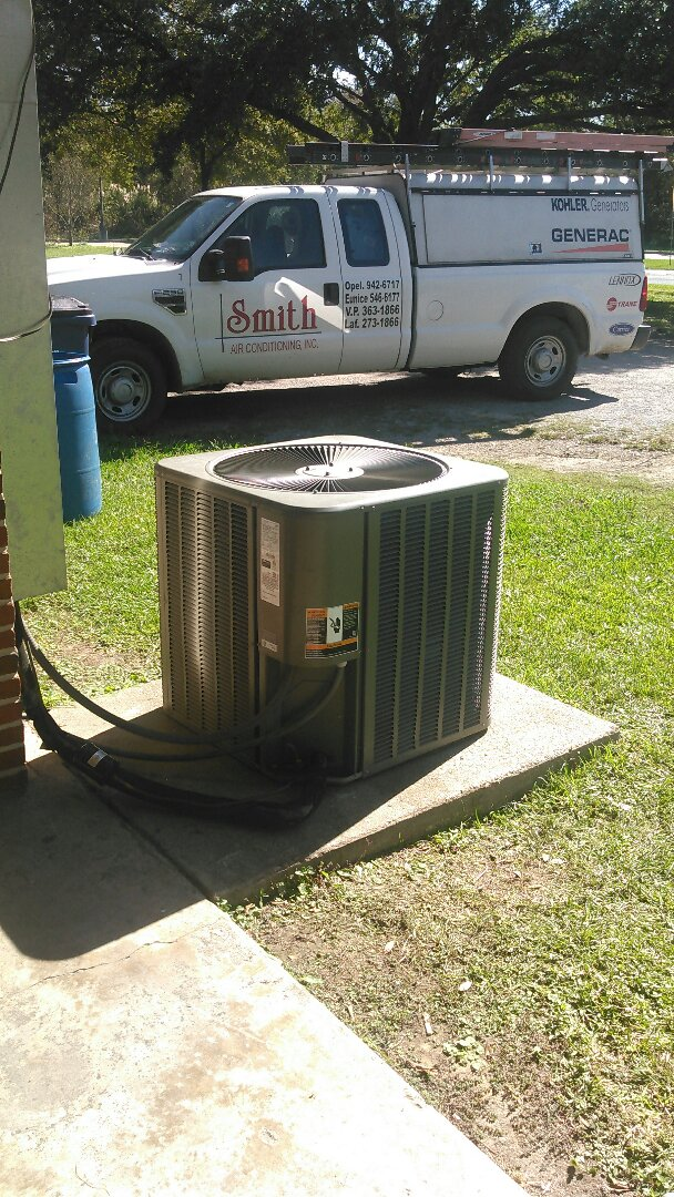 Opelousas, LA - Did service call on Lennox unit and replace compressor and replace filter and did heating tune up on unit.
