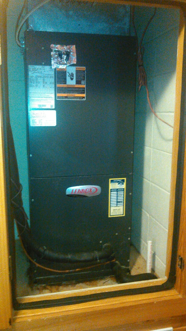 Saint Landry, LA - Did service call on Lennox unit and bypass zone board to hp  2 stage heat and cool.