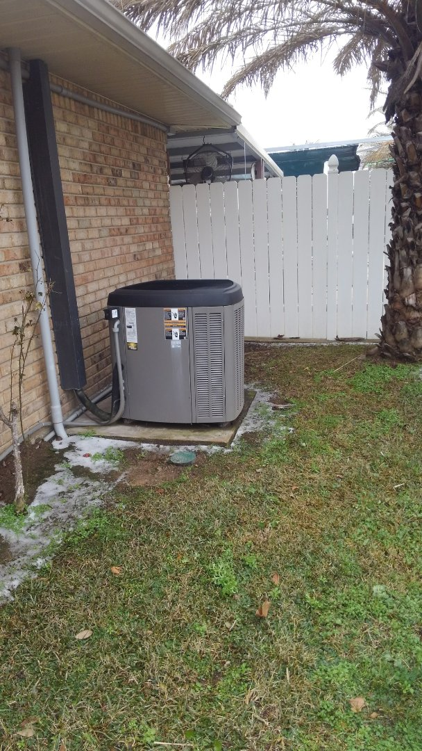 Preventative maintenance on a heat pump.