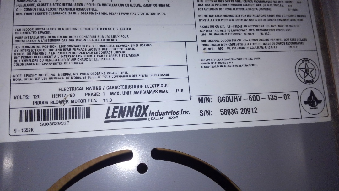 Eunice, LA - Preventative maintenance on a furnace and changed bad capacitor.