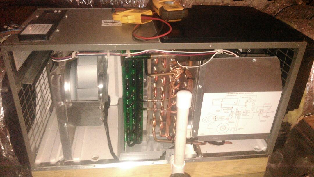 Opelousas, LA - Did service call on dehumidifier and blower motor bad.