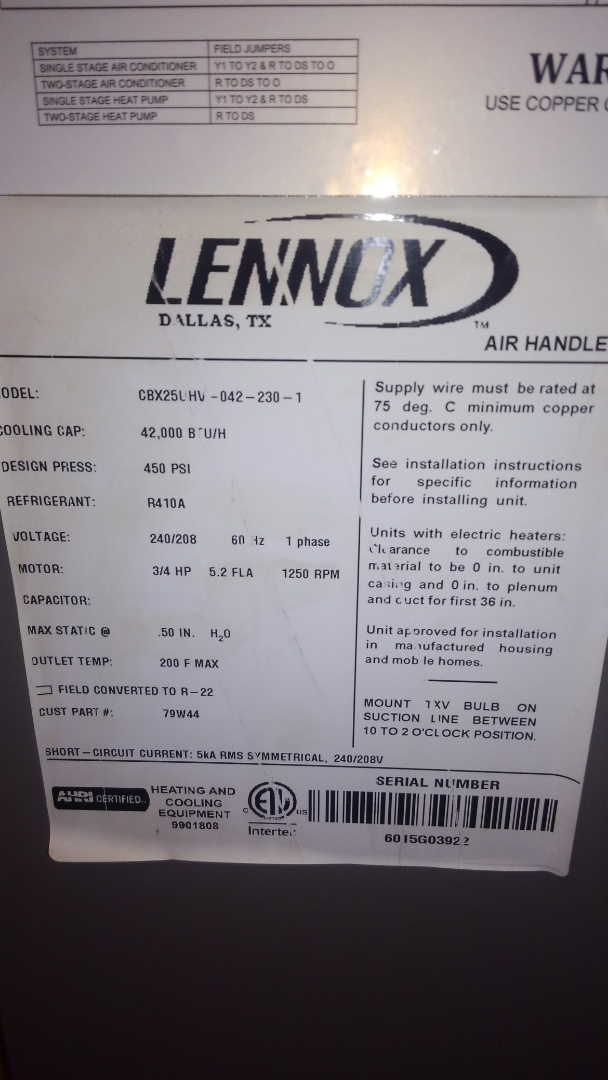 Opelousas, LA - Preventative maintenance on a Lennox electric furnace.