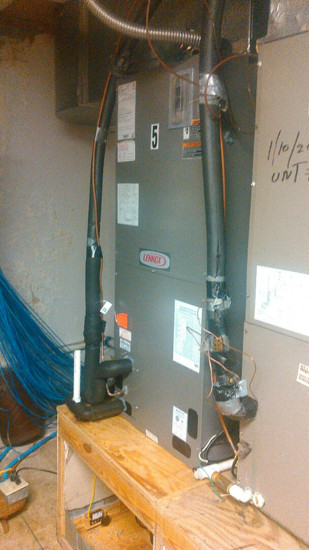 Opelousas, LA - Did service call on Lennox heater and cleaned drain line.