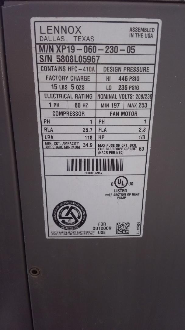 Opelousas, LA - Preventative maintenance on a heat pump.