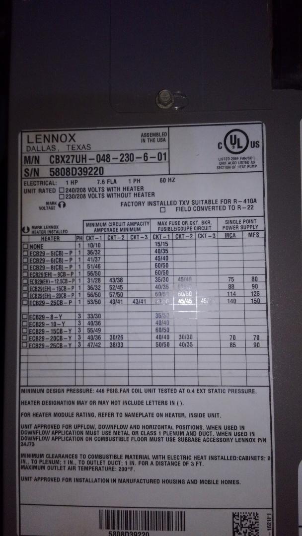 Opelousas, LA - Preventative maintenance on a Lennox heat pump.