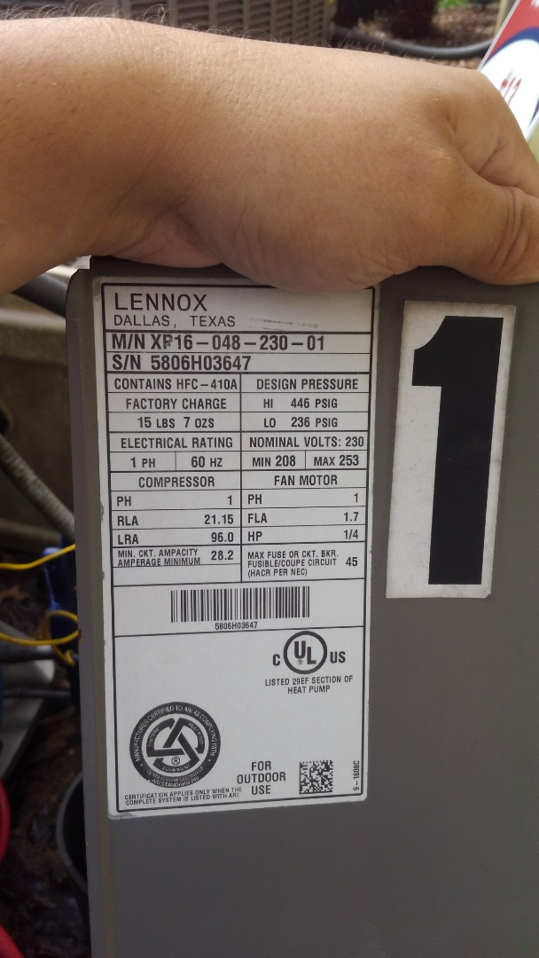Opelousas, LA - Preventative maintenance on 6 heat pumps.