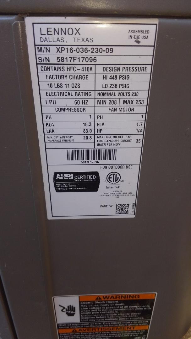 Ville Platte, LA - Preventative maintenance on a Lennox electric air handler.