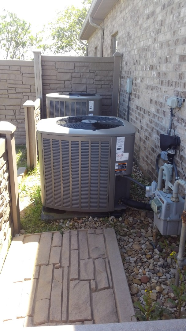 Did service call on Lennox system and repair wires.