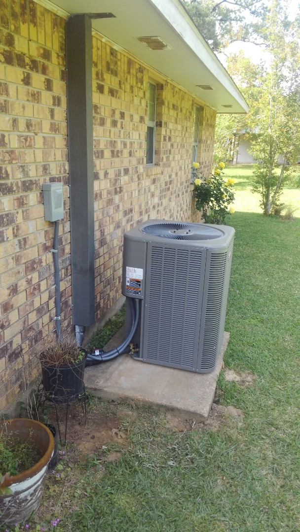 Did service call on Lennox system and adjusted blower speed.