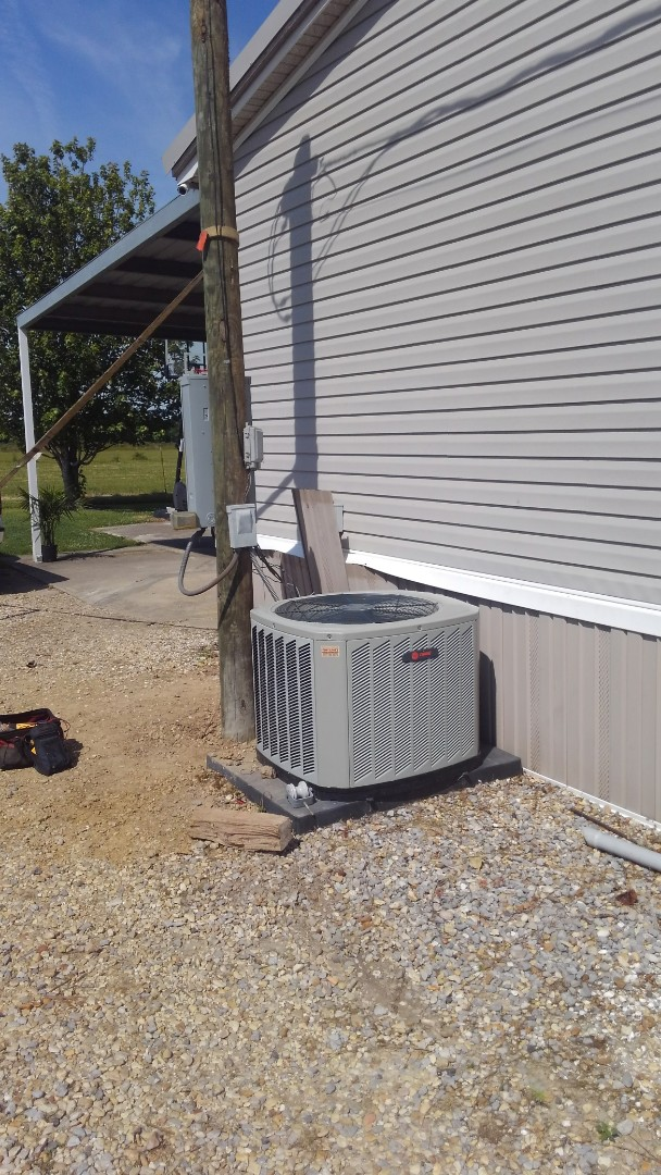 Church Point, LA - Did service call on trand system on mobile home unit and reset breaker and check complete system out.