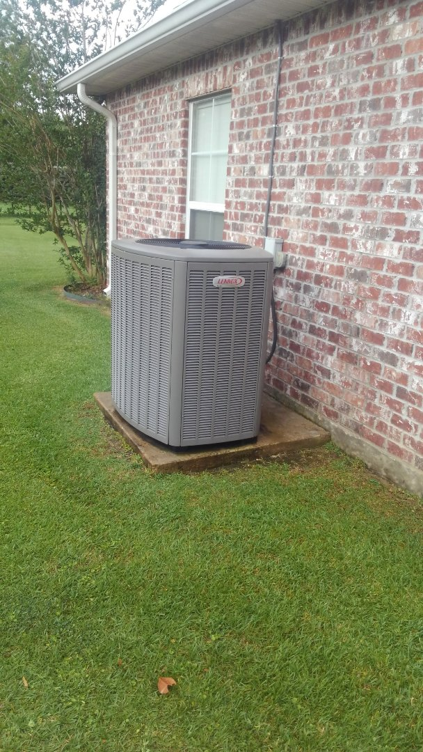 Did cooling tune up on Lennox system and replace filter kit.
