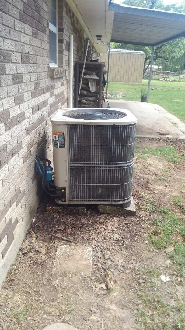 Port Barre, LA - Did service call on Lennox system and replace cond motor and added frenon.