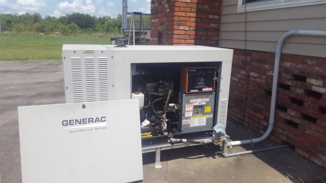 Crowley, LA - Did service call on generator and replace spark plugs.