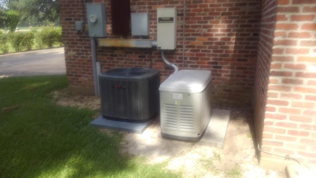 Ville Platte, LA - Did yearly generator maintenance.