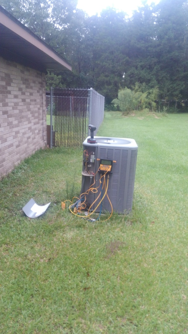 Oakdale, LA - Did service call on Lennox system and repaired water leak.