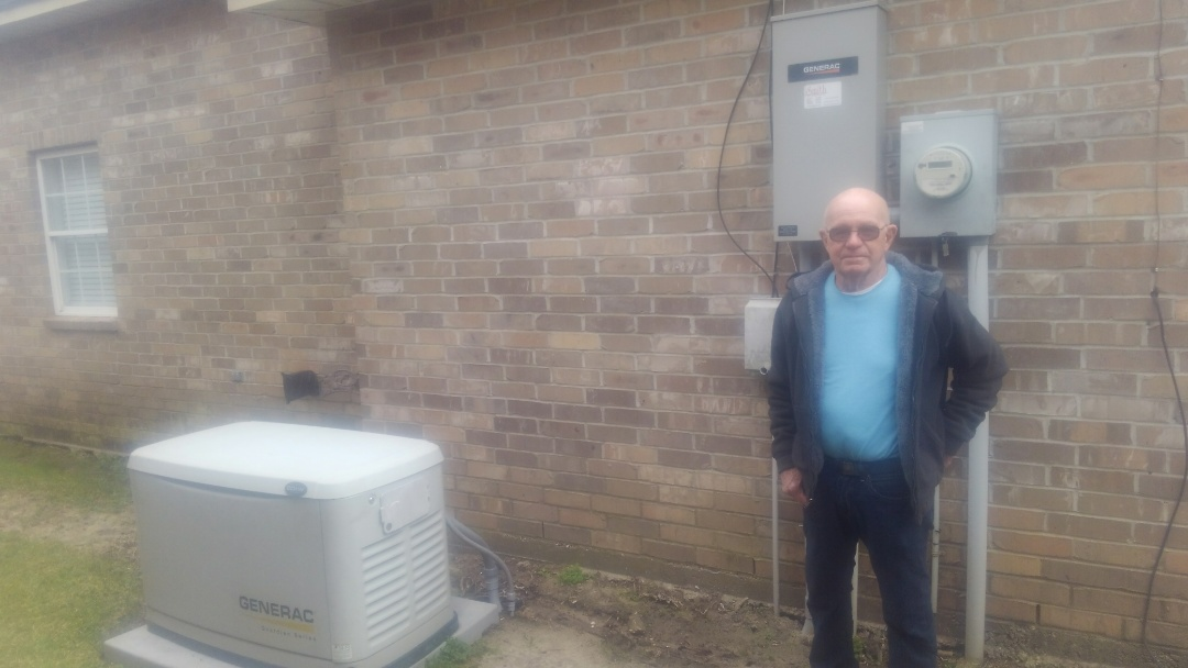 Opelousas, LA - Did service call on generator and replace control board.
