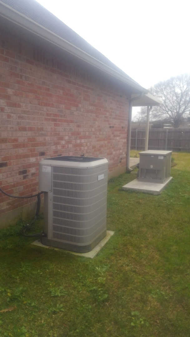 Eunice, LA - Did service call on Frigidaire unit and replace cond motor in warranty.