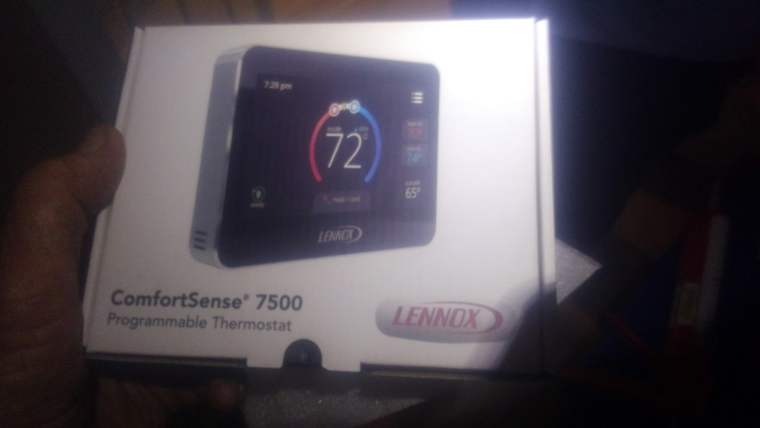 Eunice, LA - Did service call on Lennox system and replace filter and tstat in warranty.