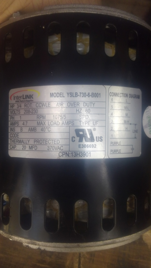 Ville Platte, LA - Did service call on Lennox system and replace blower motor.