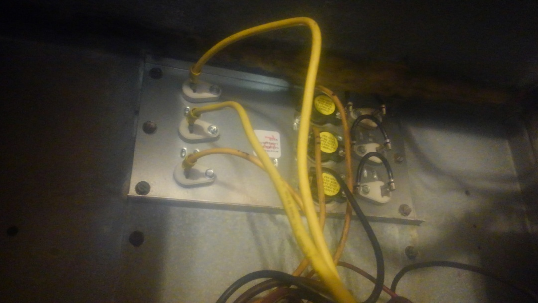 Eunice, LA - Did service call on Goodman system and replace heat strip assembly 15 kw.
