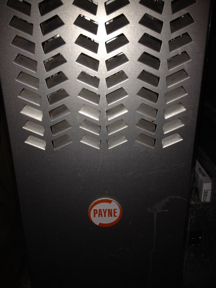Maple Grove, MN - Tune up on a Payne furnace.  Had to red tag and shut down, due to finding a crack in the heat exchanger