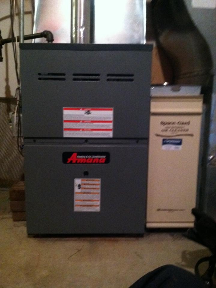 Victoria, MN - Heating tuneup on an Amana furnace