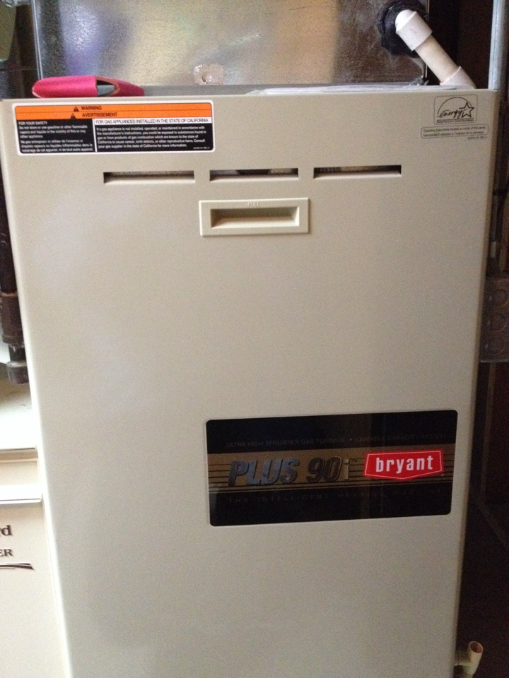 Plymouth, MN - Tune up on a Bryant furnace