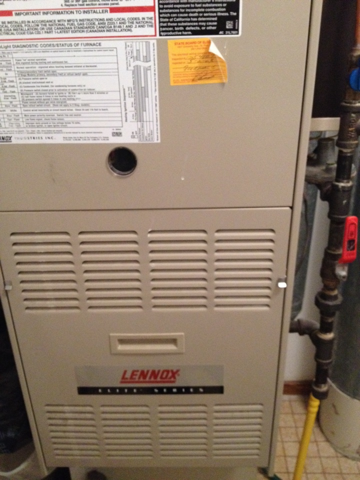 Plymouth, MN - Tune up on a Lennox furnace
